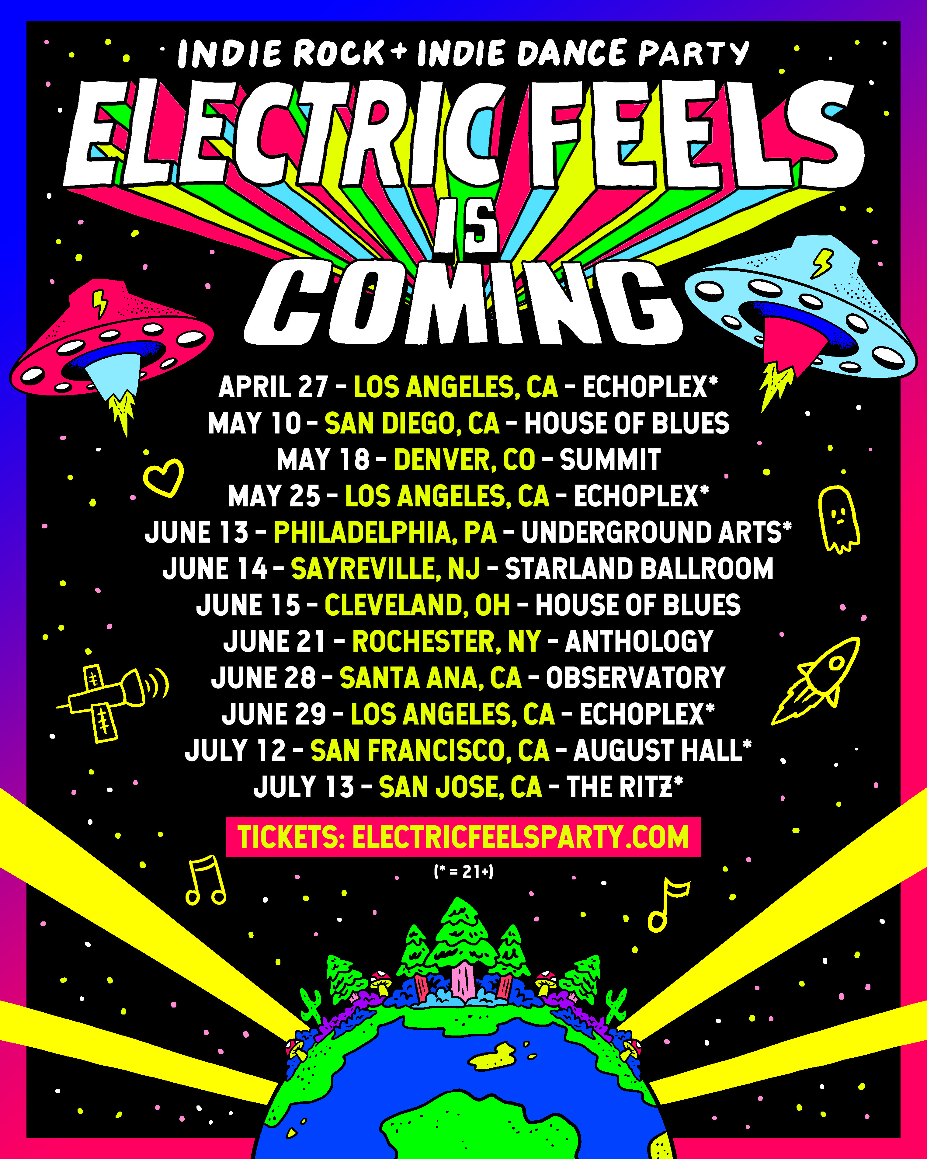 Electric Feels next party